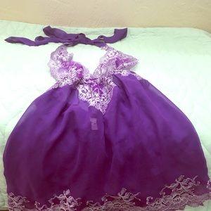 Purple lace Victoria Secrets Babydoll